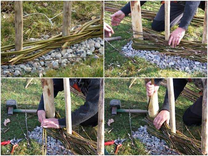 Altes Gartentor wird zum Holzzaun   Upcycling Idee