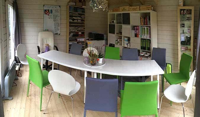 gartenhaus-einrichtung: Meeting-tauglich