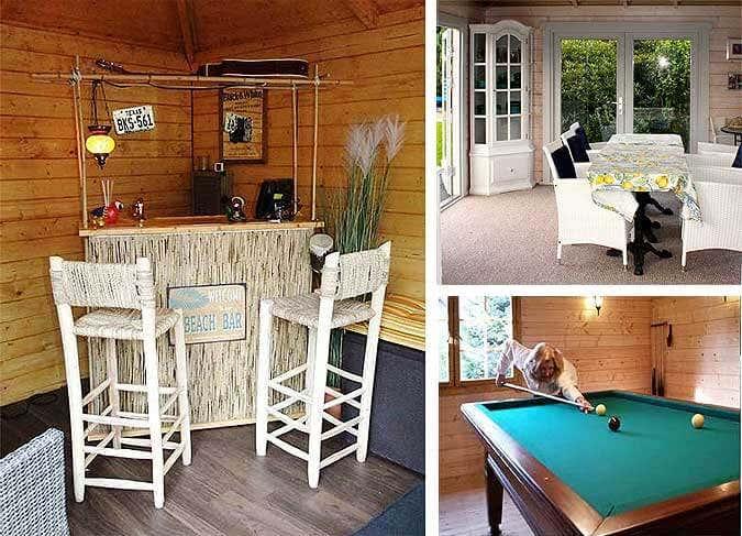Wunderbar Ein Gartenhaus Einrichten: 20 Gelungene Beispiele Von Beach Bar Bis Billard