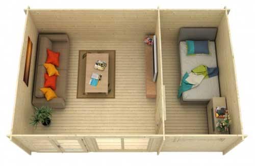 das gartenhaus mit hausbar und stammtisch. Black Bedroom Furniture Sets. Home Design Ideas