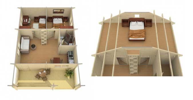 ein gartenhaus mit schlafboden bietet mehr platz zum bernachten. Black Bedroom Furniture Sets. Home Design Ideas