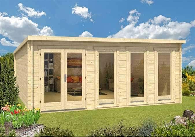 Modernes holzhaus pultdach  Modernes Gartenhaus-Design: Die Pultdach-Serie Atrium