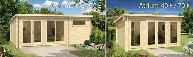 Modernes Gartenhaus Design: Die Pultdach Serie Atrium