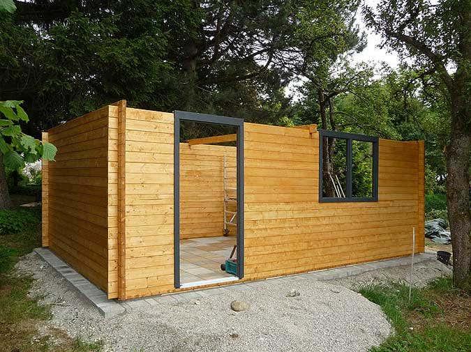 Holzgarage Aufbau Korpus