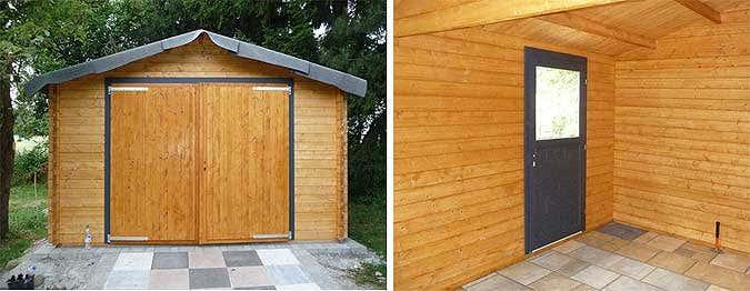 Holzgarage, Türen komplett
