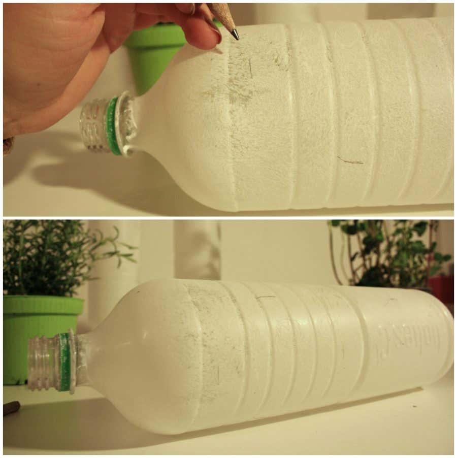Leere Flaschen bemalen