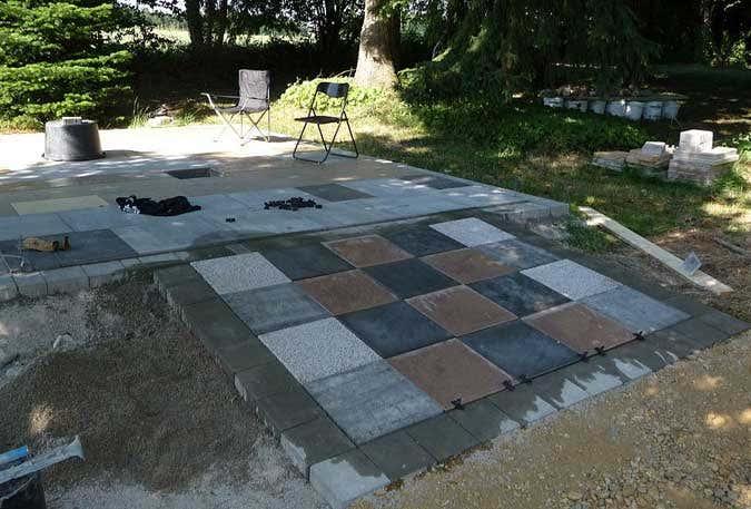 Plattenfundament Aufbau: Vorplatz