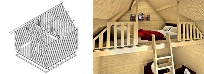 ein gartenhaus mit schlafboden mehr platz zum bernachten. Black Bedroom Furniture Sets. Home Design Ideas