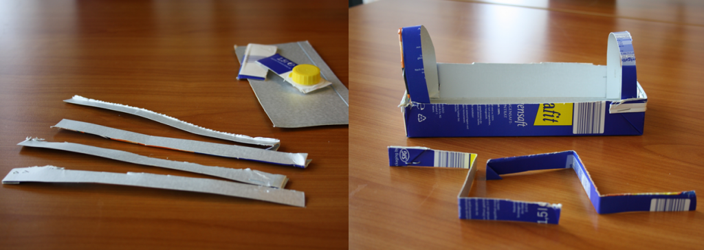 Tetrapak-Gewächshaus Schritt 3 und 4