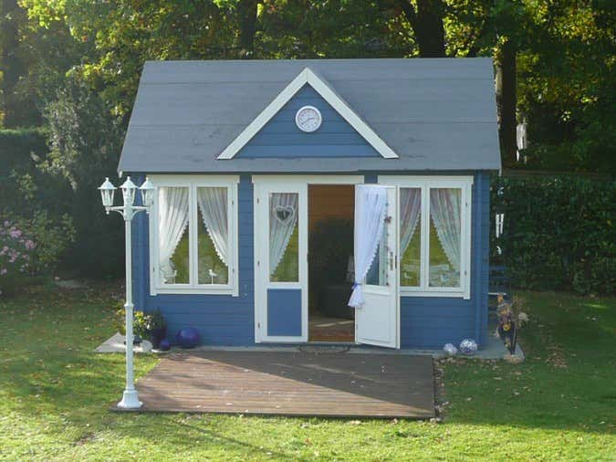 Gartenhaus einrichten: Ideen fu00fcr Ihr Clockhouse