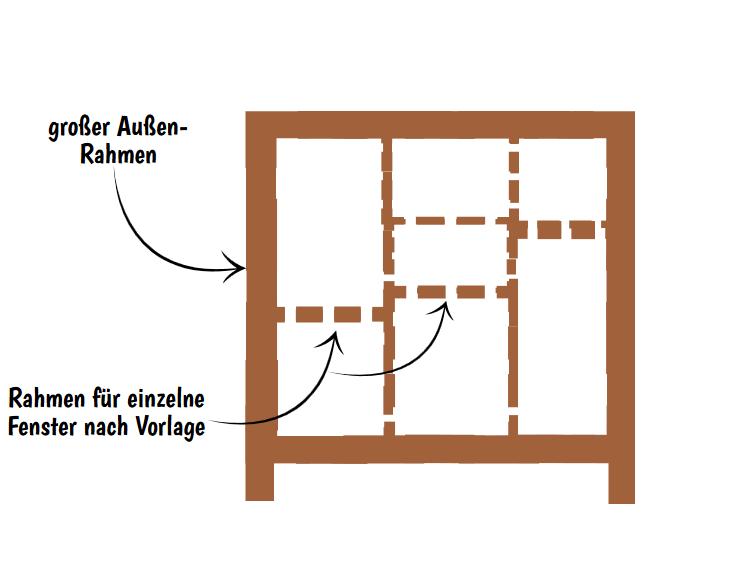 Fenster Rahmen Plan