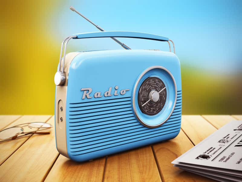 nostalgisches Radio in Blau