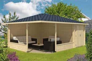 eine gartenlaube wird zur wetterschutzh tte der aufbau. Black Bedroom Furniture Sets. Home Design Ideas