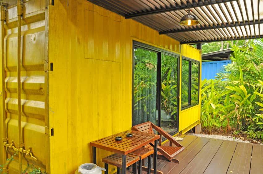 container zum wohnen gelb