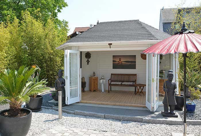 moderne gartenpavillons. Black Bedroom Furniture Sets. Home Design Ideas
