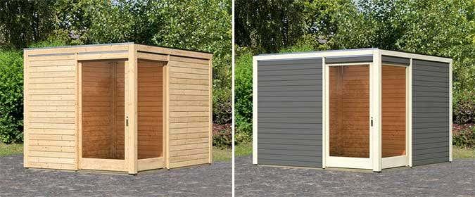 Schiebetür außen kunststoff  Gartenhaus & Schiebetür - die perfekte Kombination