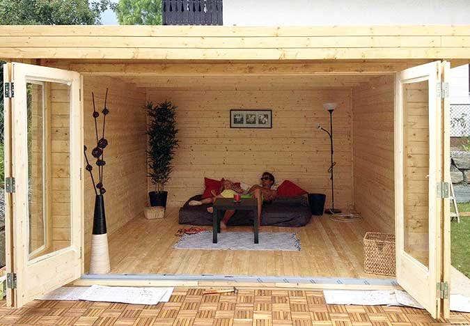 Gartenhaus & Falttüren - die perfekte Kombination