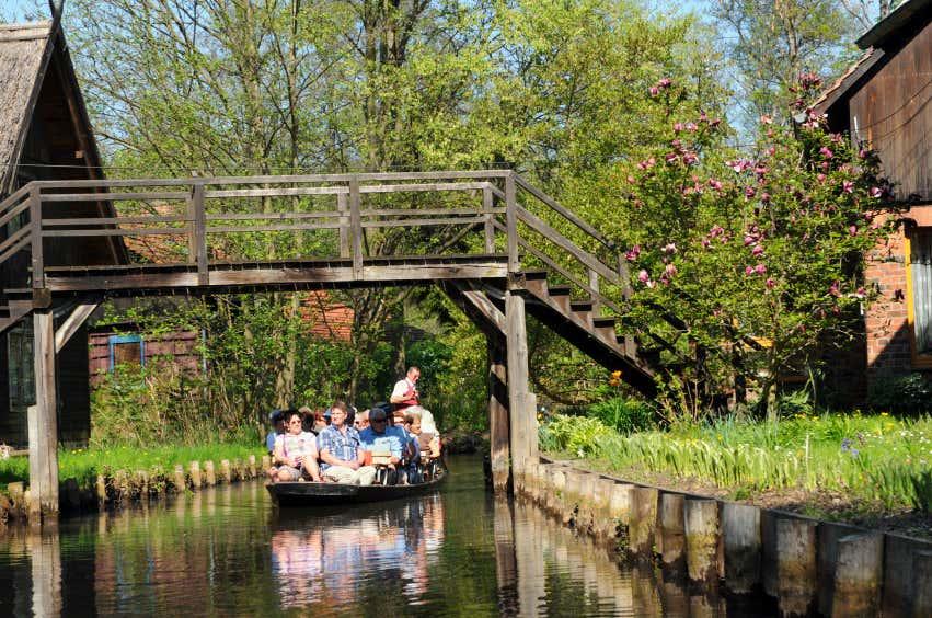 Bootsfahrt auf dem Fließ im Spreewald