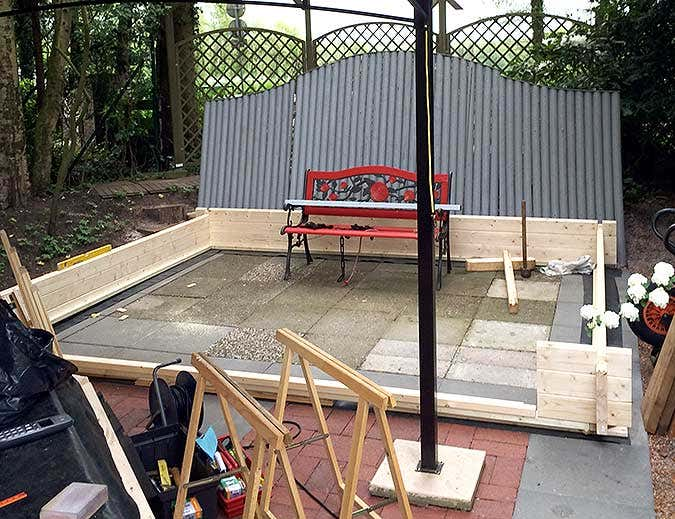 Gartenhausaufbau, Basis