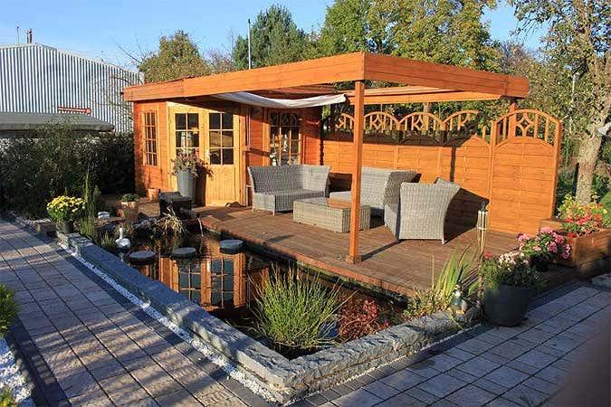 Praktische Tipps Fur Ein Gartenhaus Mit Anbau