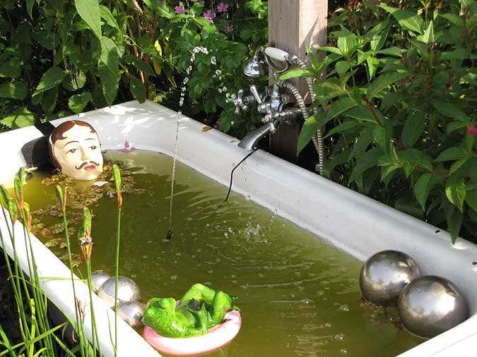 Gartenpavillon sumatra aufbau und einrichtung im gartenparadies - Badewanne im garten ...