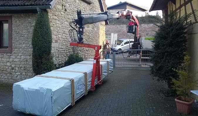 gartenhaus-anlieferung
