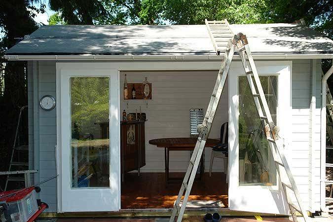 Gartenhausdach: Dachpappe