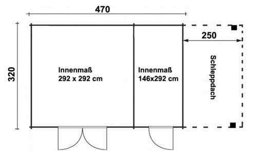 gartenhaus schleppdach die perfekte kombination. Black Bedroom Furniture Sets. Home Design Ideas