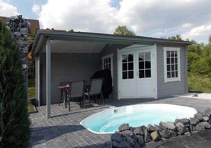 Gartenhaus mosel 40 mit pool und weitblick ins gr ne - Party gartenhaus ...