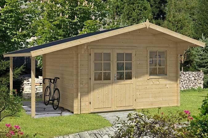 Gartenhaus Mit Holzunterstand ZI87 – Hitoiro