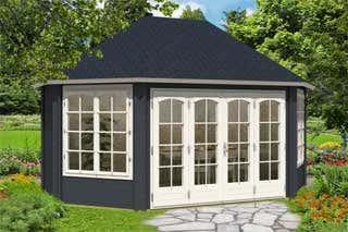 gartenpavillon sumatra aufbau und einrichtung im. Black Bedroom Furniture Sets. Home Design Ideas