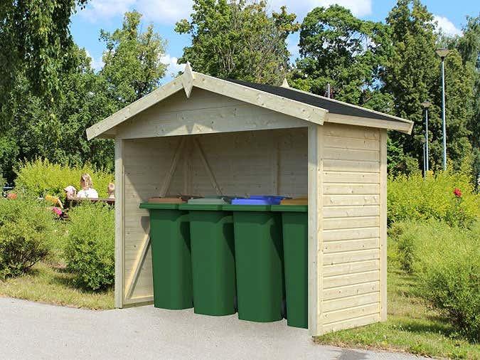Gartenhaus Mit Unterstand ein gartenhaus für mülltonnen der optimale unterstand