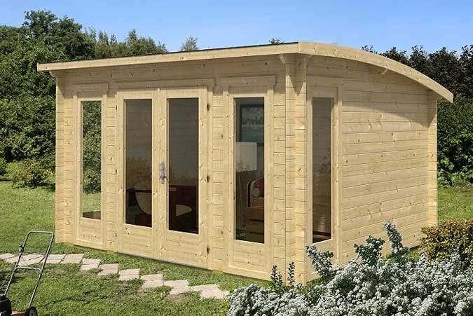 Gartenhäuser mit Tonnendach: Die ausgefallene Dachform