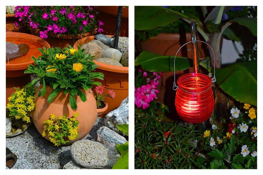 Hängelichter sorgen auch nachts für schöne Atmosphäre im Garten oder auf der Terrasse.