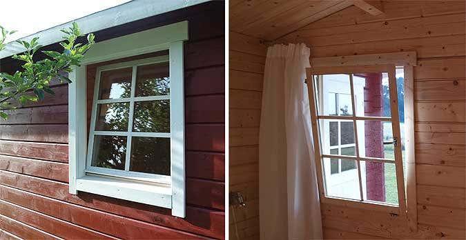 Gartenhaus-kippfenster