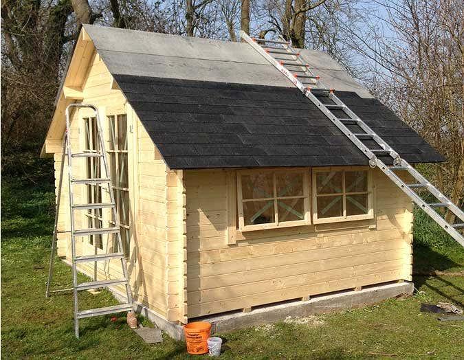 Ferien im gartenhaus das sch nere camping - Dacheindeckung kunststoff gartenhaus ...