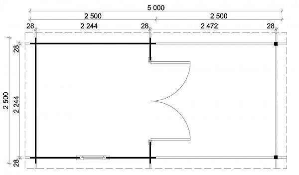 ein ger tehaus f r rasenm her und rasentraktor. Black Bedroom Furniture Sets. Home Design Ideas