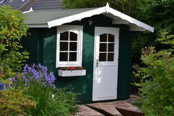 Gartenhaus grün