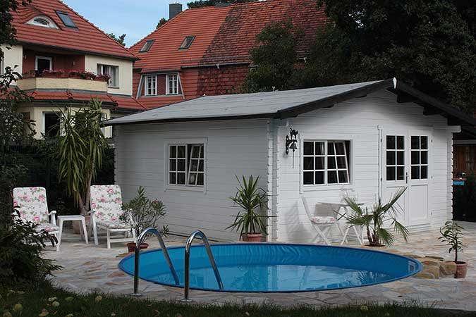 Dachpappe auf Gartenhaus