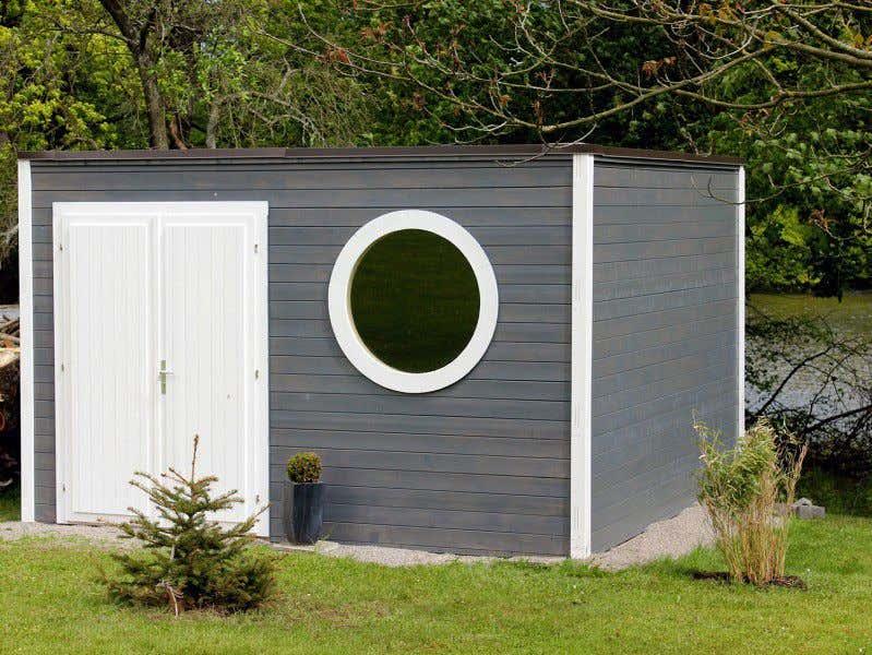 Gartenhaus schwedenstil grau  Gartenhaus grau-weiß: moderner Gartentrend mit Stil