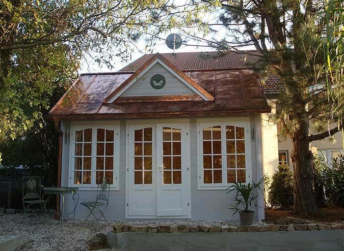 Kupferdach fürs Gartenhaus