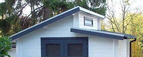 Das gartenhaus mit stufendach - Gartenhaus mit fenster ...