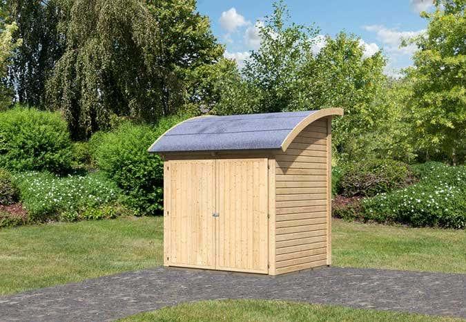 Gartenhaus Mit Unterstand ein gartenhaus fürs fahrrad