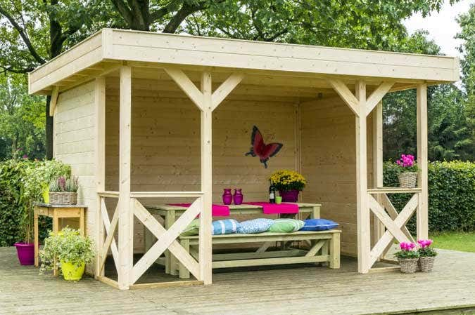 gartenpavillon selber bauen. Black Bedroom Furniture Sets. Home Design Ideas