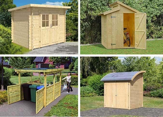 Ein Gartenhaus fürs Fahrrad