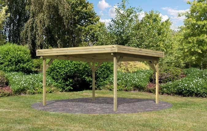 Der Gartenpavillon mit Flachdach