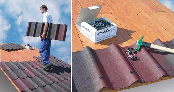 Onduvilla Dachdecken Gartenhaus