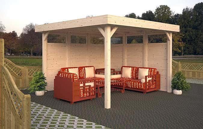 Hervorragend Der Gartenpavillon mit Flachdach GP67