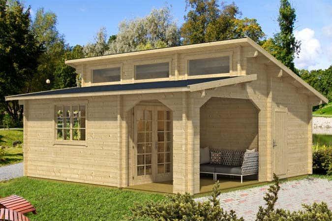 Das Gartenhaus mit Stufendach