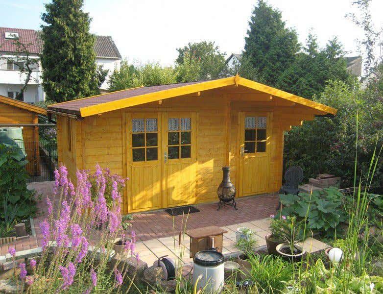 gartenhaus farbe gelb my blog. Black Bedroom Furniture Sets. Home Design Ideas